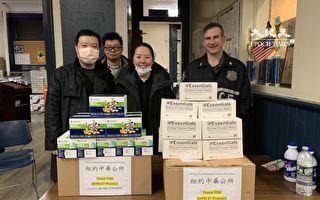 中华公所向市警5分局送1500只口罩