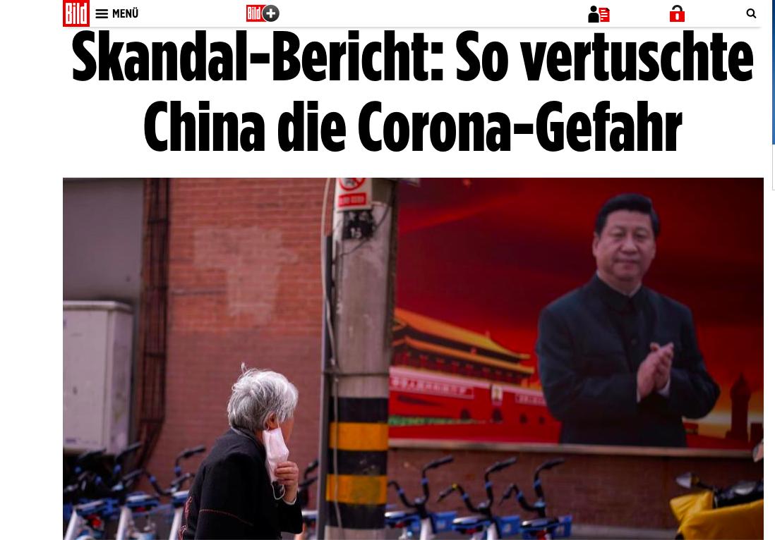 德國圖片報:中共掩蓋疫情 必須給出解釋