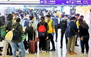 桃園機場:20日0至7時約有2200人入境