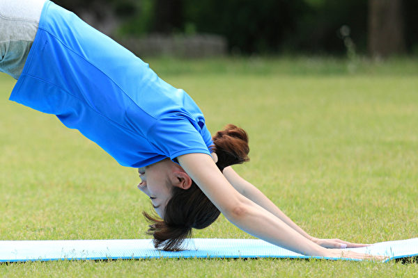 下犬式伸展是一种极具复健疗效的瑜伽伸展姿势。(Shutterstock)