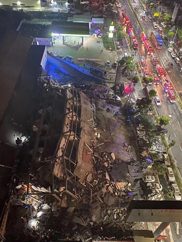 隔離點酒店坍塌。(網絡圖片)