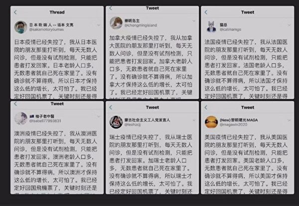 網友惡搞小粉紅的海外「疫情失控」。(網絡圖片)