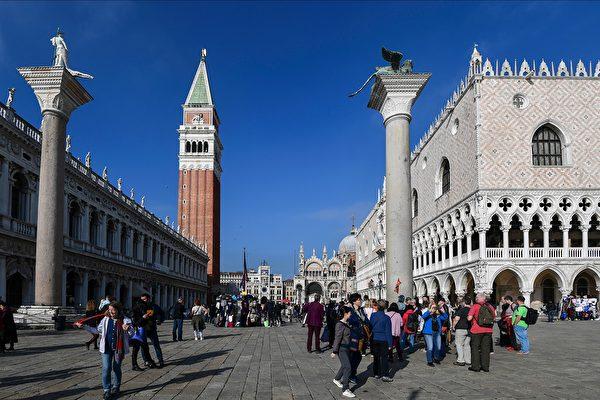 2019年11月4日,意大利威尼斯聖馬可廣場。(MIGUEL MEDINA/AFP via Getty Images)
