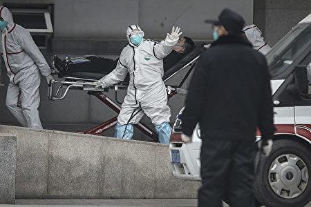 圖為武漢金銀潭醫院,疫情初期專門接受中共病毒確診病例的醫院。(CHINA OUT/Getty Images)