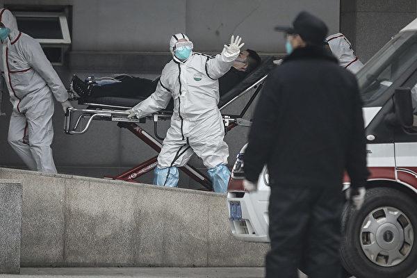 武漢人在封城前的逃亡路線,經過大數據演算發現,竟與歐美疫情足跡吻合。圖為武漢金銀潭醫院。(CHINA OUT / Getty Images)
