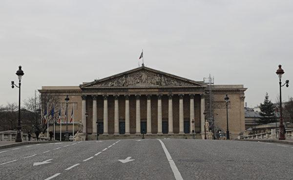 3月17日的法國國民議會。 (LUDOVIC MARIN/AFP via Getty Images)