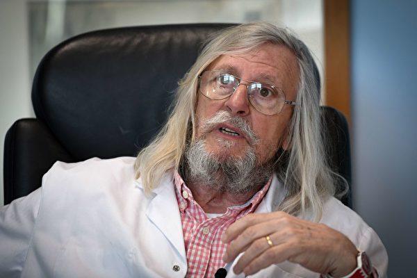 法國馬賽大學感染研究中心教授迪埃·拉烏爾特(Didier Raoult)發現老藥羥氯奎寧有治療效果。 (GERARD JULIEN/Getty Images)