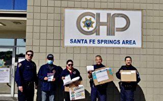 世华南加州分会捐1000个口罩给加州巡警
