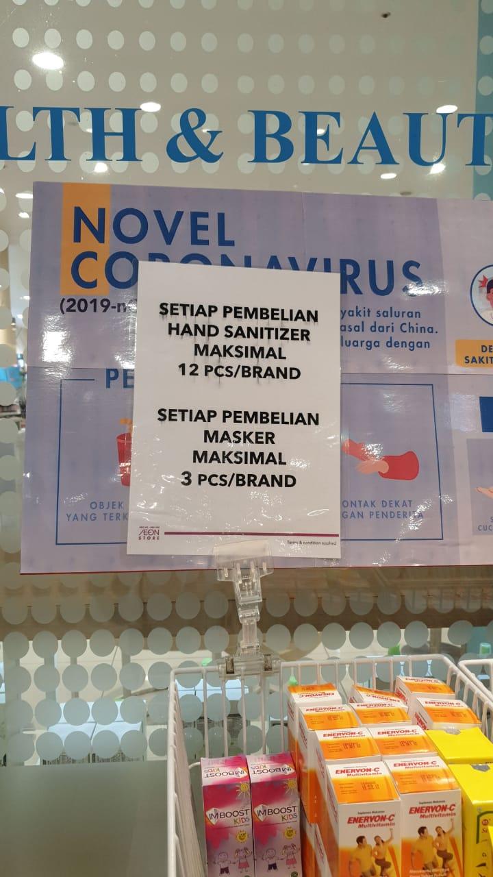 印尼首現2例中共肺炎確診 雅加達超市限購口罩