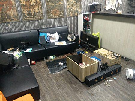 36岁廖姓男子经营之刺青店遭砸毁。