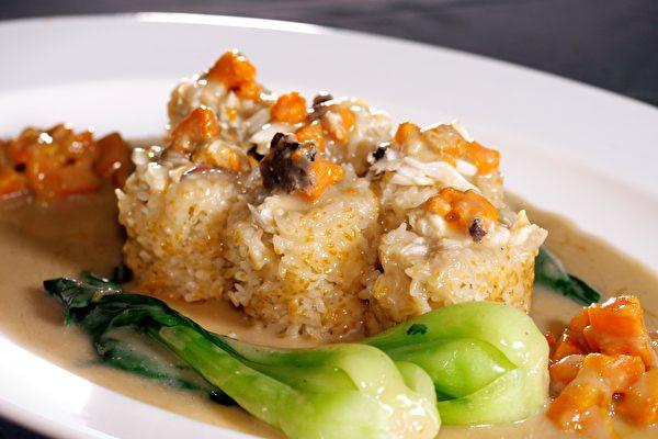 【罗厨寻味】荷香蟹肉糯米饭