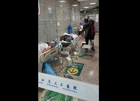 湖北人民醫院急症室的情況。(受訪者提供)