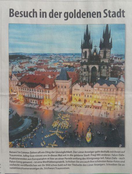 捷克首都布拉格老城廣場。(作者拍攝)