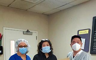 孟昭文向皇后區六家療養院贈送口罩