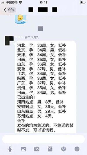 取名為「愛心救助」的QQ群截圖。(網絡截圖)