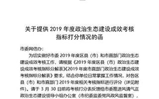【独家】中共借政治考核迫害法轮功