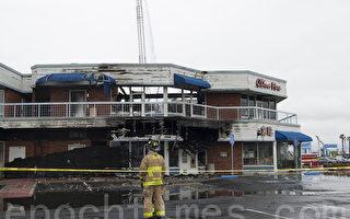 聖地亞哥富臨酒家被大火燒毀 損失數百萬