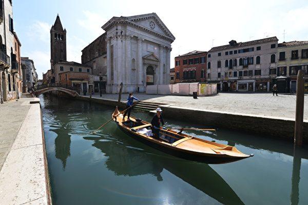 組圖:意外收穫 威尼斯運河變清澈