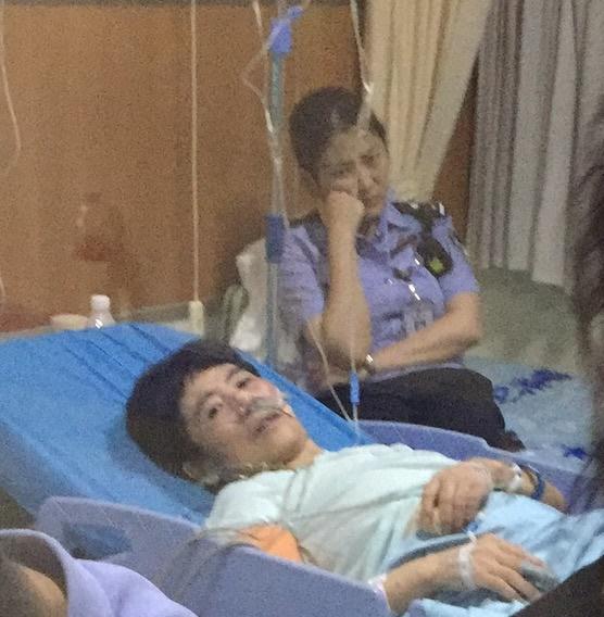 李長芳被看守所迫害致病,圖為其生前在醫院裏的照片。(明慧網)