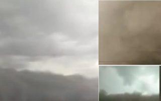 【现场视频】吉林白城现沙尘暴 天空瞬间黑暗