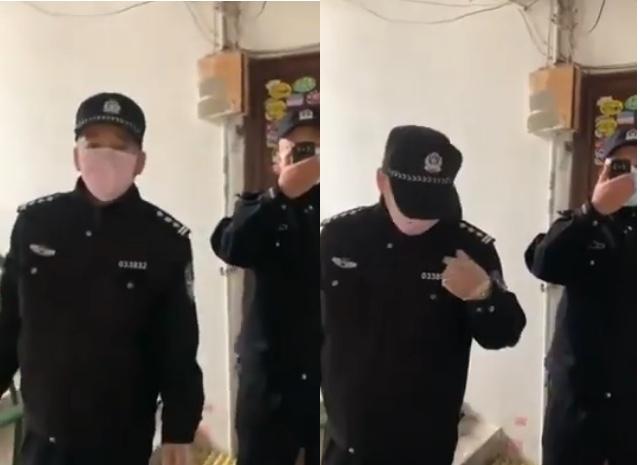 【現場影片】武漢死者家屬建群 警察上門騷擾