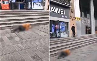 【現場視頻】武漢大智路華為門前有人倒地
