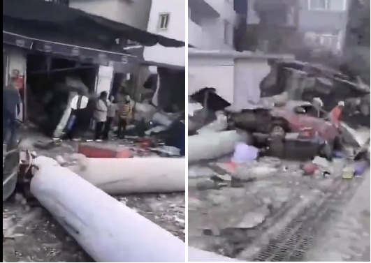 【现场视频】福州一货车撞毁民房 致9死8伤