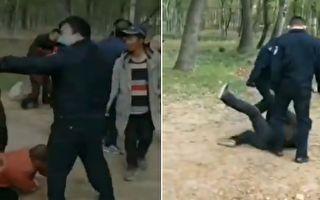 【现场视频】政府占地村民堵路抗议 遭警察殴打