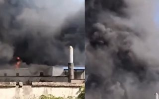 湖南省长沙市开福区月湖大市场一仓库发生火灾。(视频截图合成)