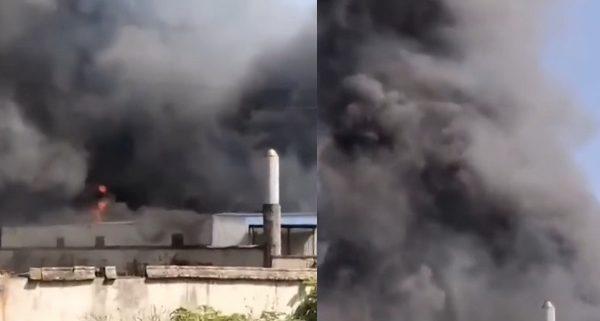 【現場影片】長沙月湖大市場著火 濃煙滾滾