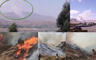 【現場視頻】四川西昌突發山火 逼近山下民房