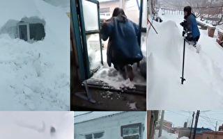 【現場視頻】黑龍江大雪封門 居民翻窗出門