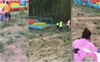 【现场视频】河南充气游乐设施被吹翻 6童受伤