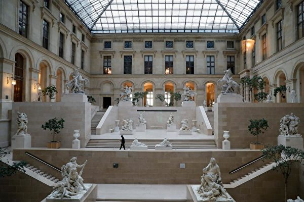 The Marly Court at the Louvre in Paris, indefinitely closed to the public. AFP VIA GETTY IMAGES