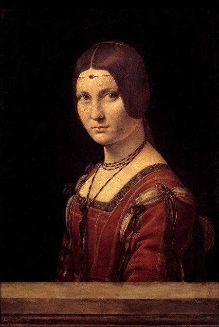 """Ritratto di dama, Portrait of a court lady of Milan, wrongly called """"La Belle Ferronniere,"""" by Leonardo da Vinci CORBIS VIA GETTY IMAGES"""