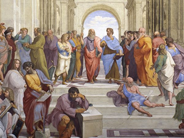 School of Athens by Raphael(Room of the Segnatura/ The Vatican Museum)