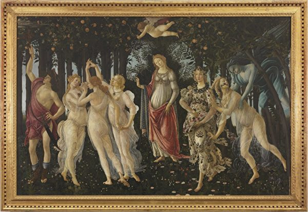 Spring by Sandro Botticelli (Uffizi Gallery,Florence)