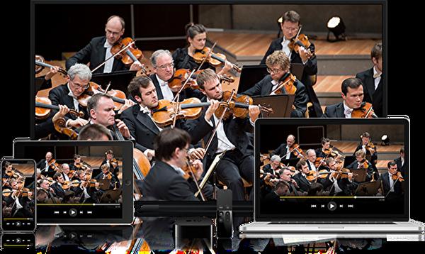 Berlin's Orchestra Philharmonic in concert. (Berliner Philharmoniker)