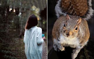 松鼠媽為討救兵拉褲管 幸好她看懂了:感覺像童話
