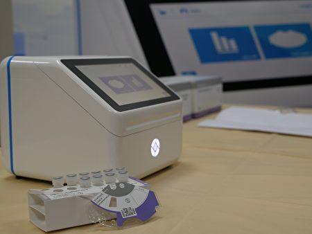 可携式医疗检测平台BluBox及微流道生物检测碟片ViroTrack。