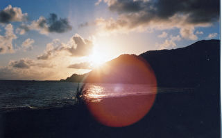 日夜交錯的蘭嶼瑰麗海景
