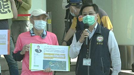 桃市府海岸管理工程处长林立昌(右)表示,桃市府已收到海保署的调查报告,会依法处理。