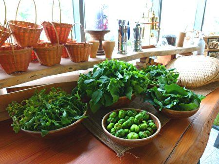 餐廳採用來自部落小農的健康食材。