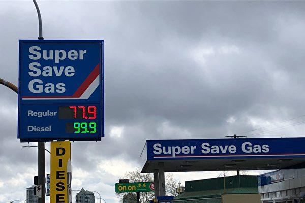 本拿比金斯威(Kingsway)Super save gas加油站