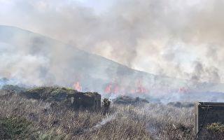 彭佳嶼傳火警 消防人員跨海救援
