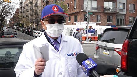陈治年医生表示,该检测点方便低收入、无私家车人士前来检测。