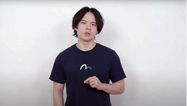 李澤華在影片中證實自己在失蹤當日,被武漢警方以「涉嫌擾亂公共秩序罪」的名義帶至一家派出所。(李澤華影片)