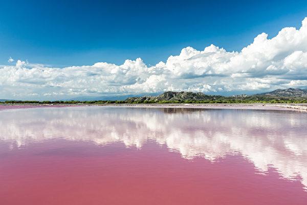 墨西哥湖泊一夜之间变粉红色 民众惊恐