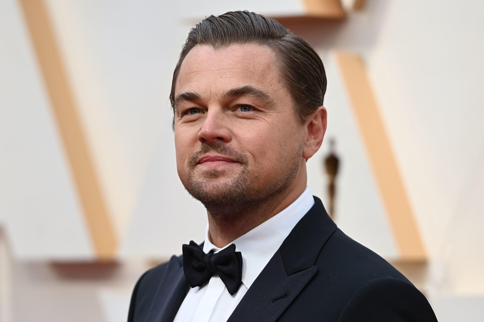 圖為美國荷里活影星萊昂納多·威廉·迪卡普里奧(Leonardo Wilhelm DiCaprio)。攝於2020年2月9日。(Robyn Beck/AFP)