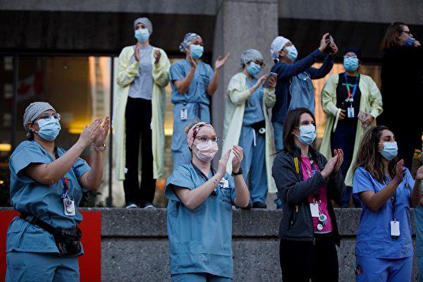 組圖:加拿大人向防疫前線醫護人員致謝